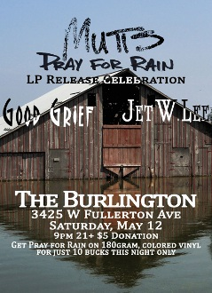 Mutts - Pray for Rain Vinyl Release Flyer