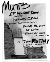 Mutts EP Release Party May 28 at Mutiny in Chicago