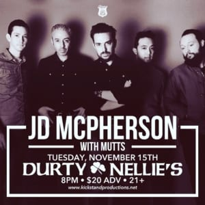 Durty Nellie's w/ JD McPherson