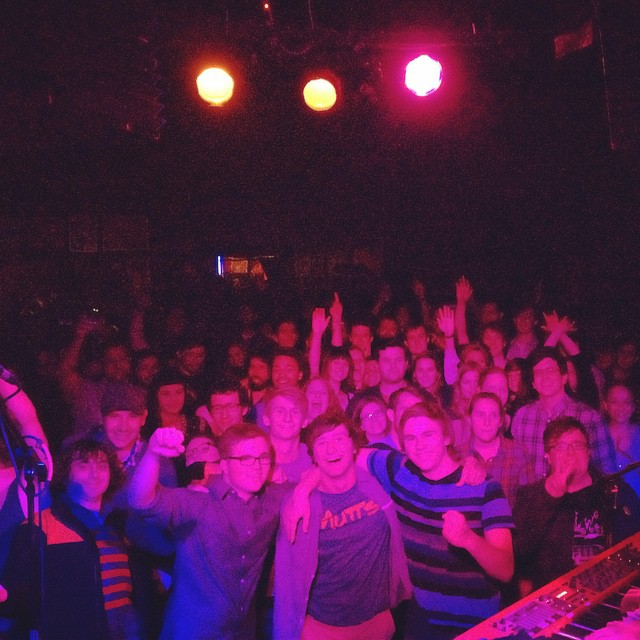 photo of the audience at our sold out Madison show at the Frequency