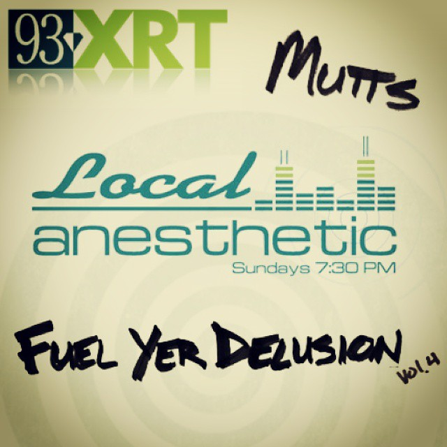 Tune into @93xrt tonight at 7:30 CST for a new Mutts track on Local Anesthetic! wxrt.cbslocal.com