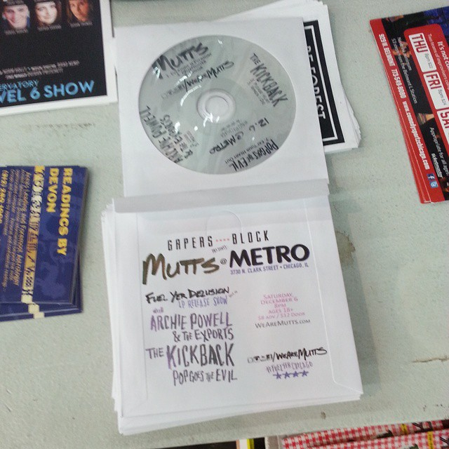 Pick up samplers of all the bands playing @metrochicago Dec 6 @recklessrecords
