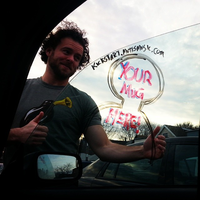 G'morning! http://kickstart.muttsmusic.com How bout yer own Mutts Tour Van Photo? 38 hours left!