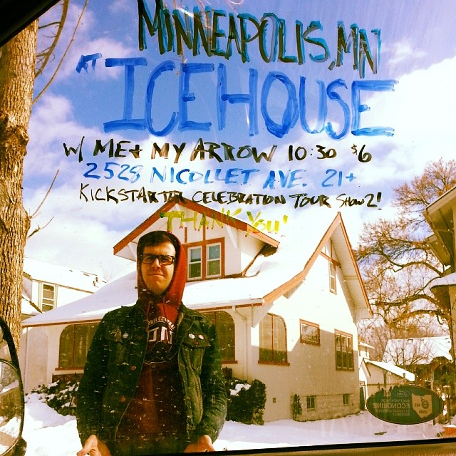 Friends, you've got us riding high into @icehouseMPLS! We get to finish our LP when we get home!