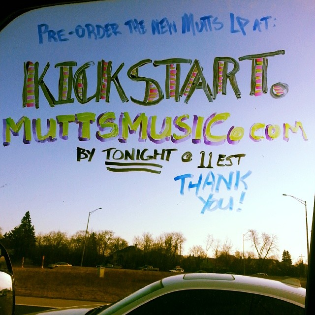 Last day of super saving pre-order helpful goodness! You're gonna love this LP http://kickstart.muttsmusic.com