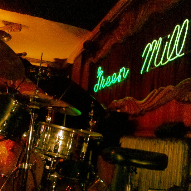 Just about ready to play at the Green Mill for Paper Machete. What an incredible last day of tour. Stay classy, Uptown.